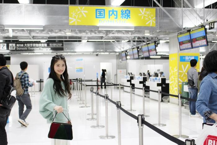成田空港第3ターミナルを使用するLCCバニラエアのチェックインカウンター