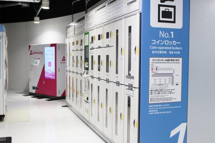 成田空港第3ターミナルにコインロッカーは4つ設置