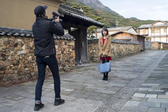 佐賀県有田町の観光名所「トンバイ塀のある裏通り」で行った撮影